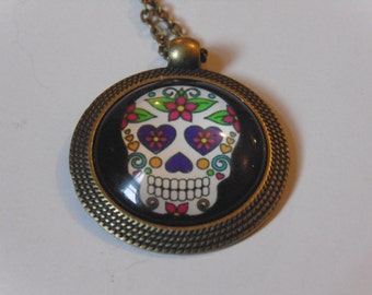 Day of the Dead Sugar Skull Necklace 5