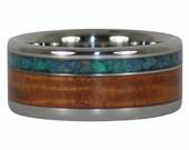Ring with Opal and Hawaiian Koa Wood