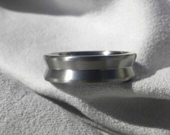 Titanium Ring or Wedding Band, Unique Style, Satin Finish