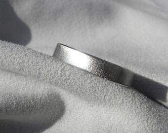 Titanium Ring, Flat Profile, Frosted Finish, Wedding Band