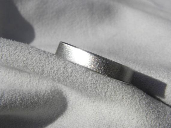 Titanium Ring, Flat Profile Frosted Finish Wedding Band
