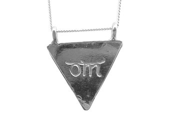 Karmala Triangle Necklace Om