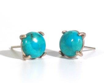 Turquoise Stud Post Earrings
