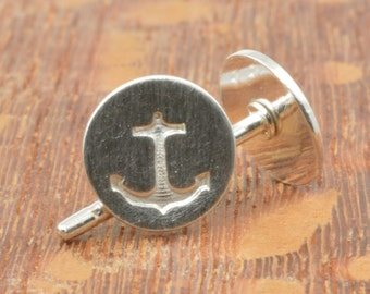 Anchor Studs in Sterling Silver