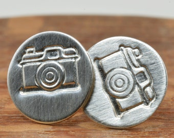 Camera Studs in Sterling Silver