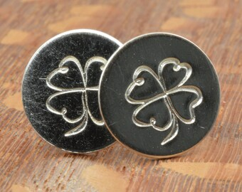 Four Leaf Clover Studs in Sterling Silver