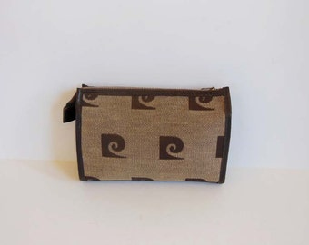 vintage bag / Vintage 1980's Pierre Cardin Logo 80s Make Up Bag