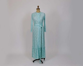 1980s dress / Vintage 80's Mary McFadden Fortuny Pleat Dress Gown