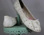 Wedding Ballet Flats . Lace Ballet Flats . Bridal Shoes . Wedding Shoes . Lace Bridal Flats . Lacy Flats .