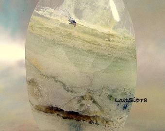 Rare Glistening Nevada Fluorite Designer Cabochon 29mmx50mmx6mm