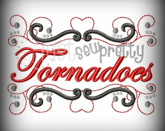 Tornadoes Pride Embroidery Design