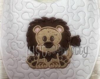 Cute Lion Embroidery Applique Design