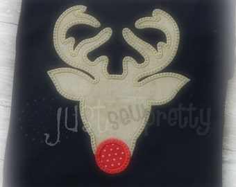 Rudy Deer Silhouette Woodland Embroidery Applique Design