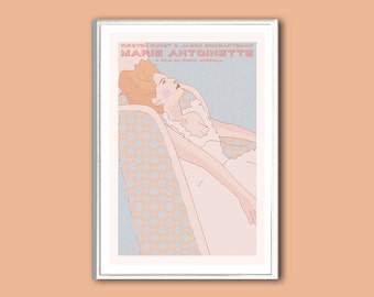 Movie poster Marie Antoinette retro print in various sizes