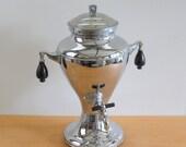 Vintage Kromaster Chrome Electric Urn • Elegant Hot Water Urn • Hot Beverage Dispenser Bakelite Handles