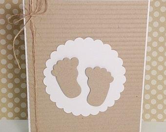 Baby Footprints Card