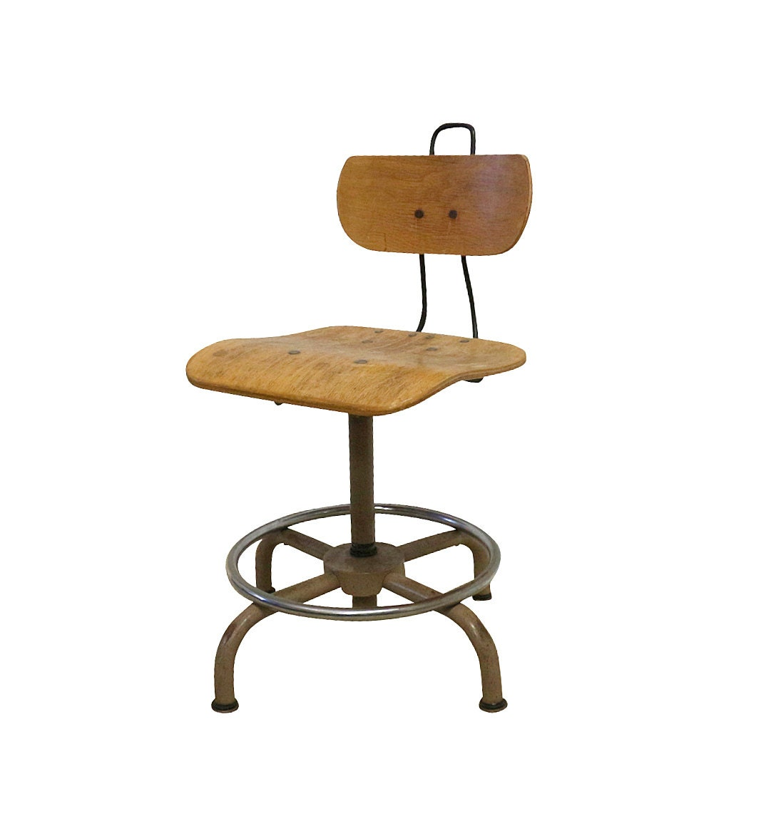 1930s Science Chair Old Industrial Lab Seat By Barnowlgoods
