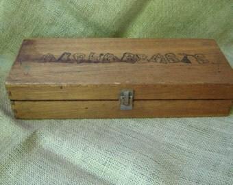 Vintage Wood Alphabet Stamps Wooden Case Wood Animal Stamps Robert Bloomberg Animal Designs