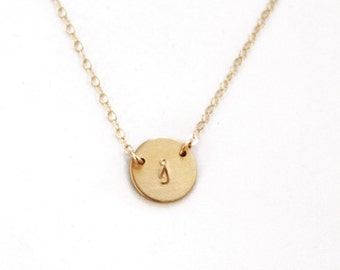 Petite Initial Necklace, Dainty Necklace, Silver, Rose or Gold Necklace, Simple Necklace, Personalized Jewelry, Personalized Necklace