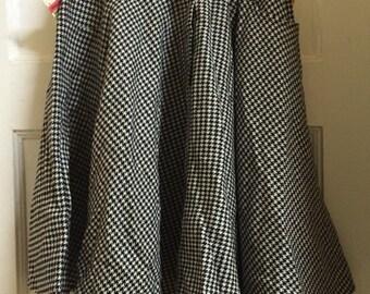 VTG 80s Deadstock Houndstooth Flare Skirt
