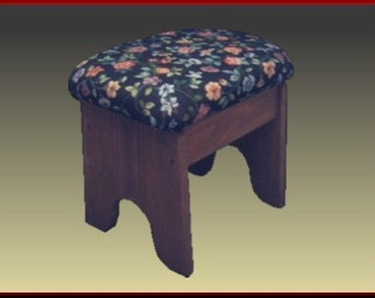 Foot Stool, Country Floral