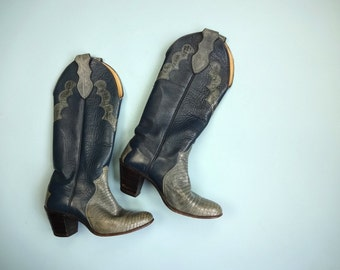 Vintage DINGO Boots Made in USA Classic Cowboy Boots