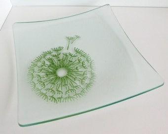 Dandelion Reclaimed Glass Plate