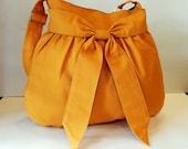 Sale - Mustard yellow canvas bag - Shoulder bag, Diaper bag, Messenger bag, Tote, Travel bag, Women - AMY