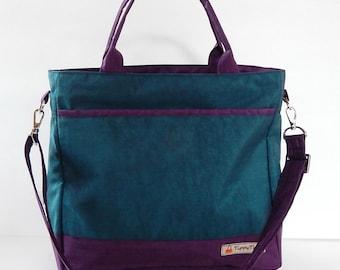 Sale - Dark Teal Water-Resistant bag - Shoulder bag, Messenger bag, Tote, Travel bag, Diaper bag, Crossbody, Women - CINDY