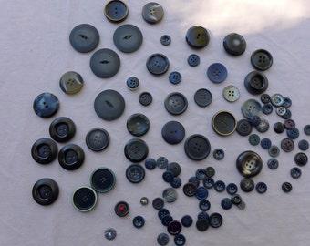 Black & Blues Button Lot