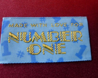 Made With Love for Number One Tag / Labels / Applique / Patches