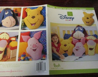 Disney Crochet Pattern Leaflet Pillow Fun with Pooh Leisure Arts 3686 Crochet Pattern Leaflet Rare and HTF