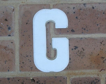 Vintage Metal Sign Metal Letter G Sign Vintage Marquee Metal Letter G Chippy Painted G Sign Rusty Sign