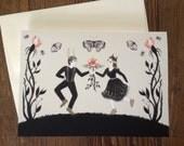 Garden Dance card
