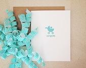 Blue New Baby congratulations card