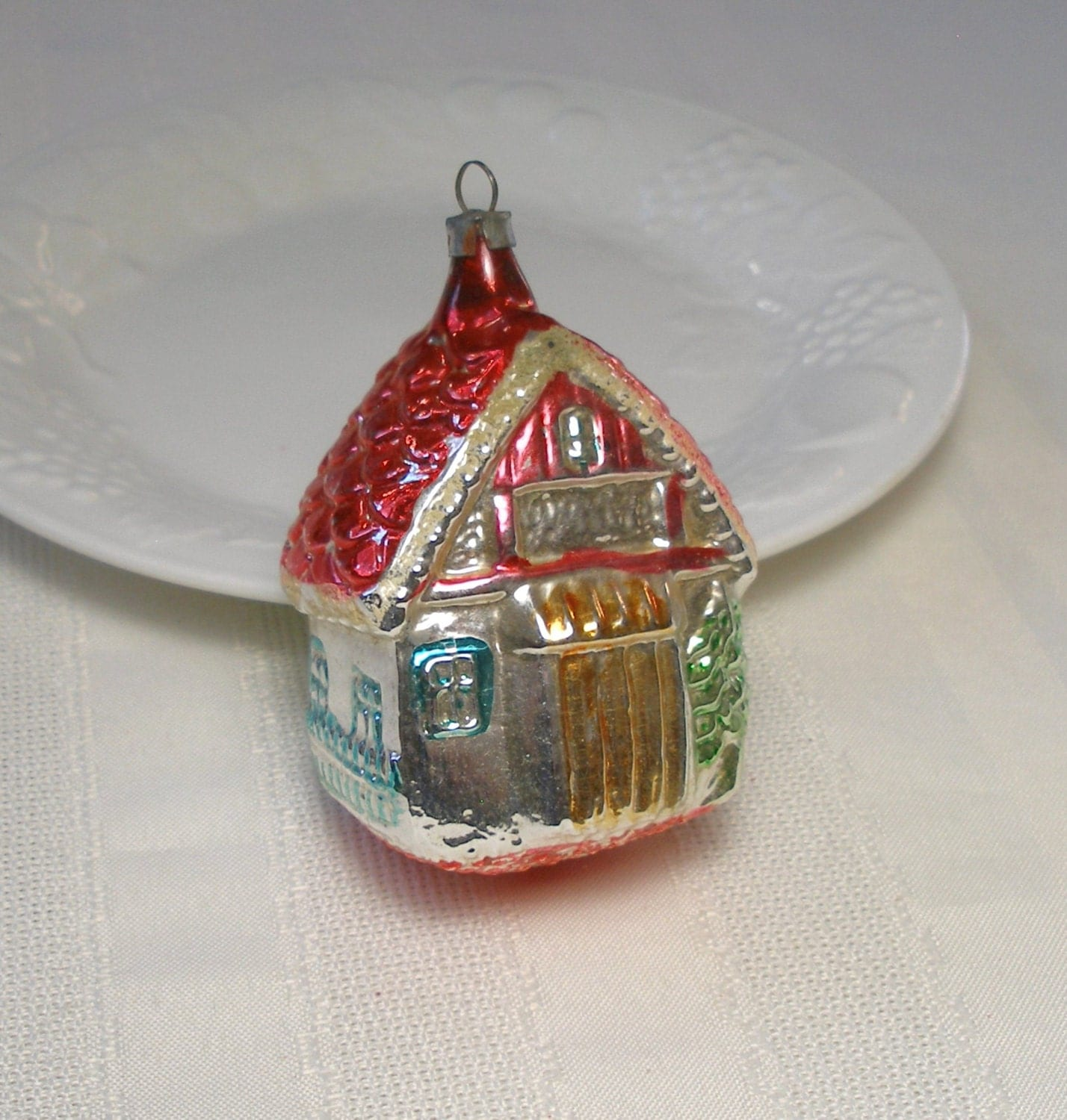 Vintage House Ornament Antique German Blown Glass Christmas