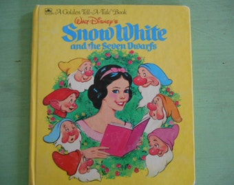 1991 A Golden Tell-A-Tale Walt Disney's Snow White and the Seven Dwarfs HB book