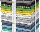 Studio Stash 3 by Jennifer Sampou, Cool colorstory Jennifer Sampou for Robert Kaufman 27 Fat Quarter Bundle FQ-1048-27
