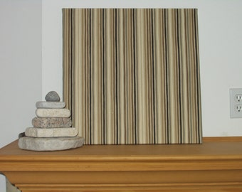 """Sale! Fabric Wall Hanging of Shade of Brown Designer Fabric 20"""" x 20"""" x 3/4"""" deep"""