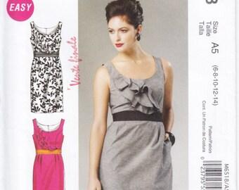 Pattern McCall's 6518 Dress with Ruffles Size 6-14 UNCUT