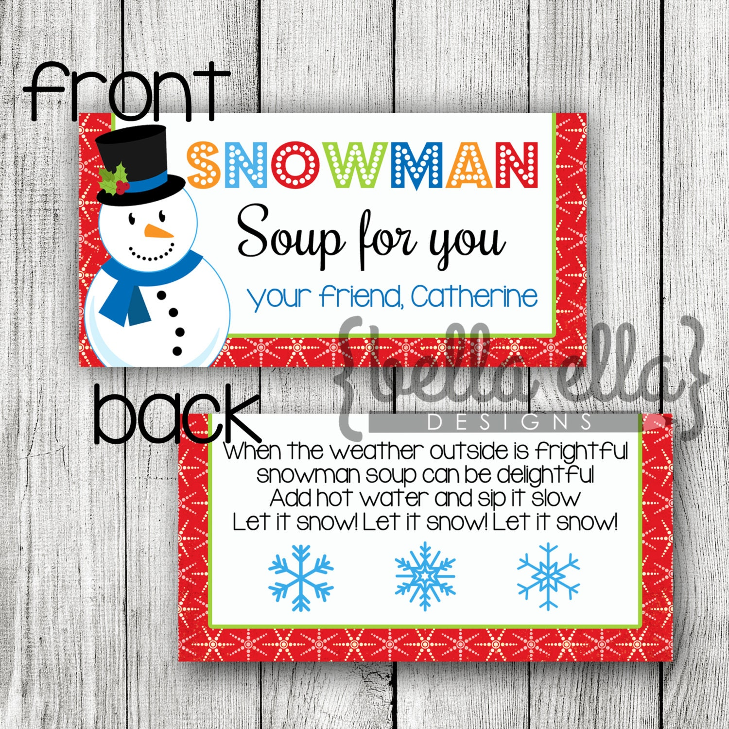 Luscious image for snowman soup free printable bag toppers