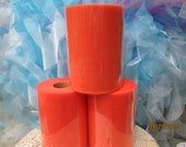 Orange Tutu Tulle  1 Roll  6 Inches Wide   100 Yards Long   300 Feet