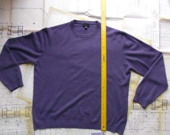 Purple Cashmere Sweater for Re-purposing