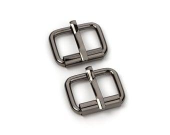 "100pcs - 5/8"" Roller Pin Belt Buckles - Black Nickel - Free Shipping (ROLLER BUCKLE RBK-107)"