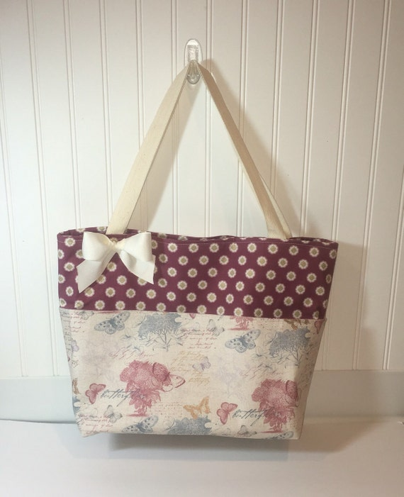Handmade Knitting Bag Pattern : Large Handmade Tote Bag Knitting Bag Travel by ...