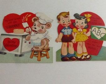 Vintage 1940s Children's A-Meri-Card Valentines V1057