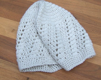 Crochet Summer Hat - Kufi - Lace Beanie - Skull Cap - Boho Beanie - Cream Color