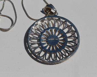 Italian Silver Pendant Necklace