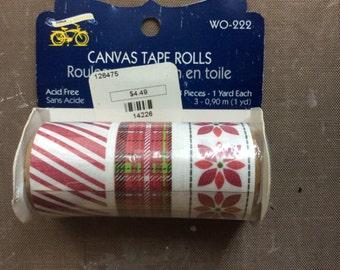 Canvas tape rolls