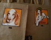 Custom painted for you Trader Joe's Jute tote bag great gift idea in time for Holidays